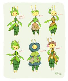 I love that Leavanny makes clothes for other pokemon, so today I started wondering what it would be like if over time Leavanny started adorning themselves differently with different plants based on the humans that lived around it! O Pokemon, Pokemon Comics, Pokemon Fan Art, Plant Pokemon, Grass Type Pokemon, Pokemon Breeds, Pokemon Fusion Art, Pokemon Pokedex, Animals