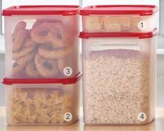 Modular Mate Squares sized from 1 to 4.  carlapratt | Current Tupperware Specials