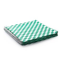 48 Green and White Checker Sandwich Wrap Food by CMWrapNShipSupply