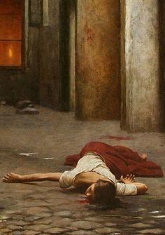 Jakub Schikaneder - #Murder in the house / detail (1892). #fineart #painting #Czechia #art ~ETS