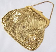 Vintage Whiting Davis Gold Mesh Purse Bag by GretelsTreasures ***ALSO SEE My Handpicked list of Best Vintage Fashion Books: http://myclassicjewelry.com/Resources/Books/VintageFashion.htm