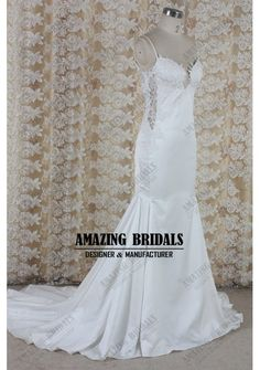 Backless mermaid satin wedding dress/Saffron wedding dress wedding gown