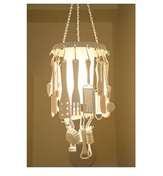 Kitchen Utensil Chandelier by ZoesEmporium on Etsy, $400.00