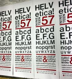 Helvetica poster printed using 8 sizes of Metal and Wood Helvetica Type (all Showcard Type)