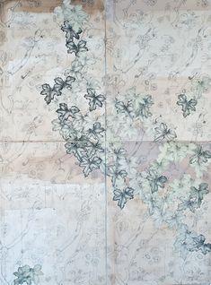 Kiki Gaffney - Acrylic, graphite, collage on paper (4 panels)  60