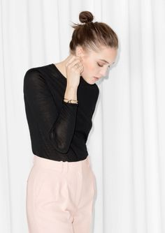 Necesity ! Basic black wool sweater   & Other Stories   Wool Sweater