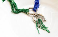 SALEbeaded necklacesand emerald green beaded by aynurdereli, $28.00