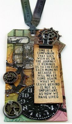 Tim Holtz 12 Tags of 2013 - January - my version