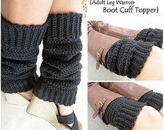 Crochet Leg Warmer Boot Cuff 2-n-1 / crochet yoga socks / dance socks / slouchy leg warmers / many colors available
