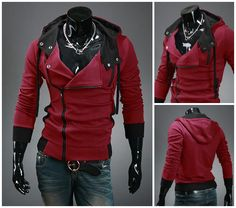 Assassin's Slim Fit Hoodie available along with tons of other cool items on our site! Tag a friend that would like this and remember to like and repin if you like what you see! Click here to order--> http://www.teebrewery.com/collections/the-assassins-collection/products/assassins-slim-fit-hoodie Assassins Creed Hoodie, Hoodies, Sweatshirts, Motorcycle Jacket, Zipper, Fit, Mens Fashion, Clothes For Women, Jackets