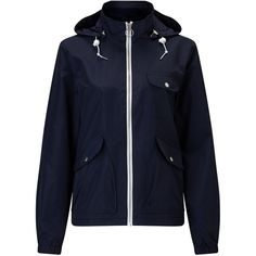 Penfield Rochester Rain Jacket , Navy ($135) ❤ liked on Polyvore featuring outerwear, jackets, navy, zip jacket, zipper jacket, rain jacket, penfield jackets and navy jacket