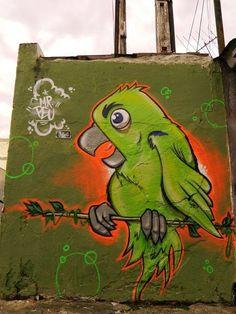 Parrot street art