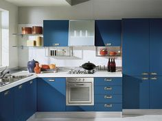 designs that inspire to create your perfect home: Modern Kitchen designs in Blue!