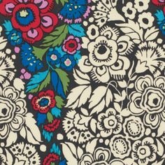 Amy Butler - Hapi - Trapeze in Charcoal: I can't wait to see what this looks like made up into a garment or bag!