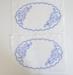 2 Kalocsa oval doilies pattern print from Hungary New 10.5'' x 6.5 '' DIY in Collectibles, Linens & Textiles (1930-Now), Lace, Crochet & Doilies | eBay