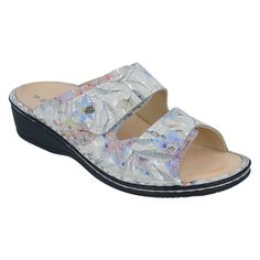 Beautiful multicolored leather uppers make this slide sandal a fashion must-have. Finn Comfort sandals provide exceptional support and comfort. Shop now! Designer Heels, Comfortable Sandals, Soft Suede, Ankle Straps, Slide Sandals, Shop Now, Footwear, Spring, Summer