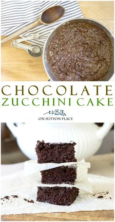 This Chocolate Zucchini Cake Recipe is SO easy. You will never know the zucchini is there because the texture is so light. Uses basic pantry ingredients. Best Dessert Recipes, Cupcake Recipes, Fun Desserts, Sweet Recipes, Cupcake Cakes, Kid Recipes, Drink Recipes, Healthy Recipes, Best Chocolate Desserts
