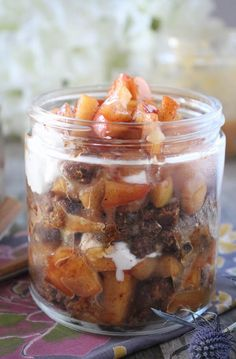 #paleo #paleomg Apple Pie Trifles
