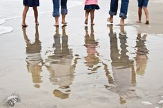 Love reflections in the sand, if you like this please repin it #family #love #reflections