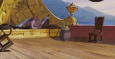 Animation Backgrounds: CAPTAIN HOOK'S SHIP (PETER PAN)