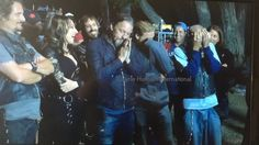 Cast saying good bye to Mark Boone Jr. (Bobby)