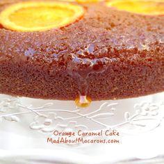 Sticky orange caramel cake