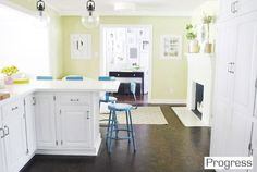 Our Paint Colors | Young House Love - Kitchen wall in Benjamin Moore Sesame