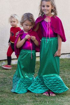 DIY mermaid costumes