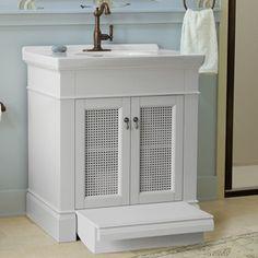 """American Standard Portsmouth 30"""" Vanity  Built In step stool!"""