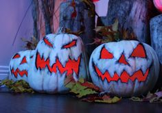 Those greyish white pumpkins can be super spooky and wonderful