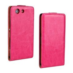 For Xperia Z3 Compact Case Retro Crazy Horse Flip Leather Case For SONY XPERIA Z3 Mini Case Z3 Compact M55W Phone Cover