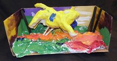 2D masterpieces into 3D by Sculpture 1 students