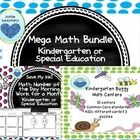 Head back to school and start the year off right for your kindergarteners or special needs students with this mega math bundle of centers and morning work from Autism Adventures. This bundle will be updated every month as I complete another month of morning work. Buy now and you can download the updated versions for free!