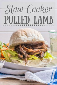 Using a slow cooker is the easiest way to achieve succulent, tender pulled lamb. Pile into baps, or serve with all the trimmings for an easy roast dinner Lamb Recipes, Meat Recipes, Slow Cooker Recipes, Crockpot Recipes, Crockpot Lamb, Dinner Recipes, Frugal Recipes, Savoury Recipes, Yummy Recipes