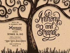 Dribbble - Fall Wedding Invitation by Colin Tierney