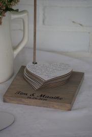 Alternative guestbook - Hearts on standard - .- Alternatief gastenboek – Hartjes op standaard – Alternative guestbook – Hearts on standard – – - Wedding Messages, Wedding Wishes, Wedding Favors, Diy Wedding, Wedding Gifts, Dream Wedding, Wedding Decorations, Wedding Day, Elegant Wedding