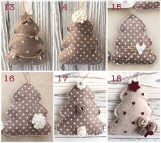 1 to 10 Handmade Felt Christmas Tree Ornaments of your choice, hanging or self standing Fabric Christmas Ornaments, Christmas Bunting, Christmas Deco, Felt Ornaments, Christmas Tree Decorations, Christmas Crafts, Xmas, Natal Diy, Boyfriend Crafts