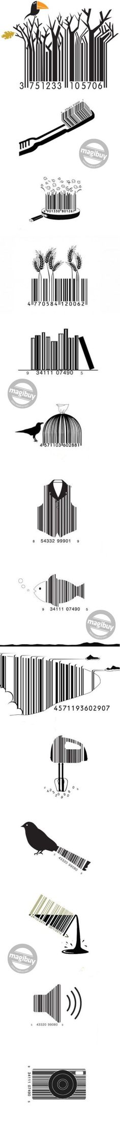Creative bar code #illustrations! Love. via http://83oranges.com #repin #design