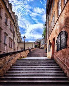Prague, Stairs, Home Decor, Ladders, Homemade Home Decor, Stairway, Staircases, Decoration Home, Stairways