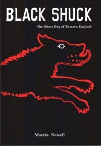 """Black Shuck is the name given to a ghostly black dog which is said to roam the coastline and countryside of East Anglia. Accounts of the animal form part of the folklore of Norfolk, Suffolk, the Cambridgeshire fens and Essex. The name Shuck may derive from the Old English word scucca meaning """"demon"""". Black Shuck is one of many ghostly black dogs recorded across the British Isles. Sometimes recorded as an omen of death, sometimes a more companionable animal, it is classified as a cryptid"""