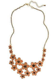Peach and Every Flower Necklace