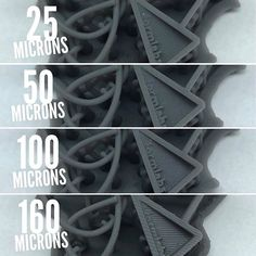 A little simple comparison between the various available print resolutions from us here Resolutions, 3d Printer, Simple