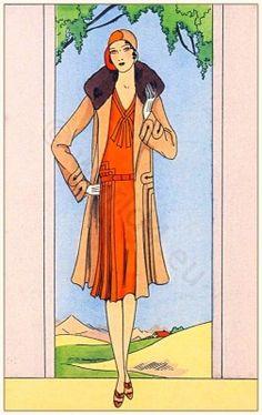 Vintage Art deco costume by Jean Patou 1929