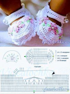 Diy Crafts - baby-Baby girl crochet slippers shoe pattern 50 ideas for 2019 crochet baby Crochet Baby Sandals, Booties Crochet, Crochet Baby Clothes, Baby Girl Crochet, Crochet Shoes, Crochet Slippers, Baby Booties, Baby Shoes Pattern, Shoe Pattern