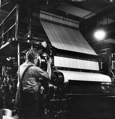 old newspaper printing press