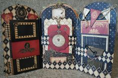 G45 French country mini album and bird cage