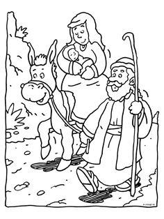 Jozef Maria Jezus Met De Ezel Mas