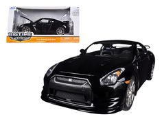 2009 Nissan GT-R R35 Black 1/24 Diecast Car Model by Jada - Brand new 1:24 scale diecast model car of 2009 Nissan GT-R R35 Black die cast car model by Jada. Rubber tires. Brand new box. Detailed interior, exterior. Comes in a window box. Has opening hood, trunk and doors. Made of diecast with some plastic parts. Dimensions approximately L-8, W-3.75, H-3.25 inches. Please note that manufacturer may change packing box at anytime. Product will stay exactly the same.-Weight: 2. Height: 6. Width…