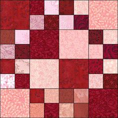 Valentine Triple Four Patch Free Pattern. This would be pretty for my scrap Christmas quilt.