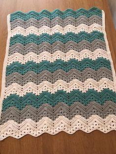 Crochet Ripple Blanket, Crochet Blankets, Baby Blankets, Baby Sleeping Blanket, Stitch Patterns, Crochet Patterns, Chevron, Crochet Baby Clothes, Diy Crochet